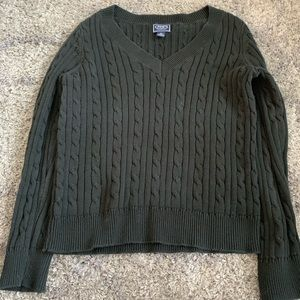 Chaps Knitted V-Neck Sweater